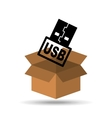 USB memory backup icon design vector image