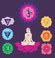 yoga set with charkas vector image