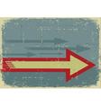 Arrows backgroundGrunge symbol on old paper vector image vector image