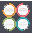 Circle Diagram Four Elements vector image vector image