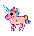 Cute cartoon unicorn isolated vector image