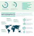 world map infographic concept with line charts vector image