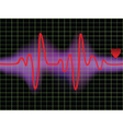 pulse and heartbeat vector image vector image