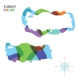 Abstract color map of Turkey vector image