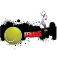 tennis background vector image