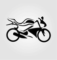 Abstract drawing of a motorbike vector image