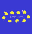 baby star characters cartoon in many action vector image