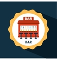bar icon design vector image