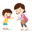boy angry shouting with mother vector image