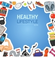 Healthy Lifestyle Background vector image