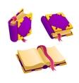 Set of cartoon purple book vector image