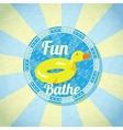 Summer fun sea rubber duck vector image