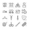 tailor line icon set vector image