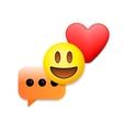 Valentines day emoticon icons Love emoji symbols vector image