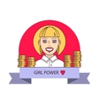 Successful businesswoman smile vector image