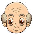 A bald old man vector image vector image