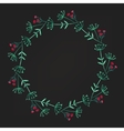 watercolor floral wreath flower round vector image