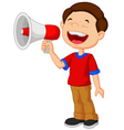 Child screaming into a megaphone vector image