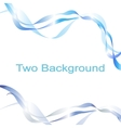 Two abstract blue wave vector image