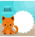 Frame with little fox and place for text vector image vector image