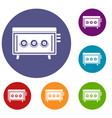 cd changer icons set vector image