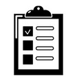 checklist icon simple black style vector image