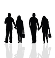couples silhouette vector image