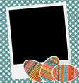 Crapbook with eggs vector image