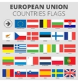 European Union country flags vector image