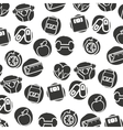healthy lifestyle pattern icons vector image