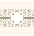Vintage card with floral ornament vector image