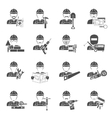 Worker Icons Black Set vector image