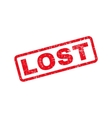 Lost Text Rubber Stamp vector image