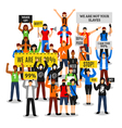 Protesting Crowd Faceless Composition vector image