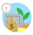 capitalization and growth capital vector image