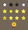 stars reward style and star medal on brown vector image
