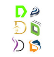 initial letter d logo pack vector image vector image