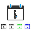 pregnant woman calendar day flat icon vector image