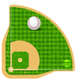 Baseball field field with real grass textured vector image
