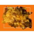 abstract orange lowpoly background vector image