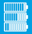 battery indicators icon white vector image