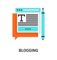 Blogging icon concept vector image