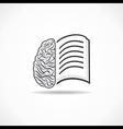 Book icon with brain stock vector image