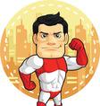 Cartoon of Superhero vector image
