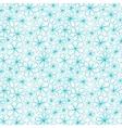 Doodle aquamarine flowers on transparent vector image