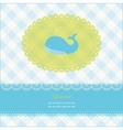 greeting card with blue whale vector image