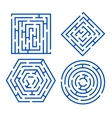 Labyrinth Set Different Shapes vector image