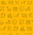 line style icons seamless pattern icons delivery vector image