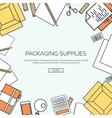 lined Packaging supplies vector image