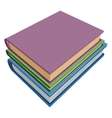 Stack of books isometric projection vector image
